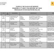 Jadwal Munaqasah PSEI Periode IV 2017/2018 – Rabu