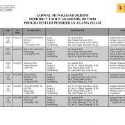 Jadwal Sidang Munaqasah Prodi PAI